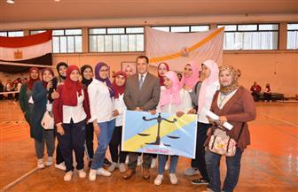 جامعة أسيوط تطلق المهرجان الرياضي الأول للطالبات | صور