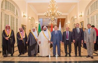 المستشار أحمد أبو العزم يستقبل رئيس مجلس القضاء الإداري بالسعودية | صور