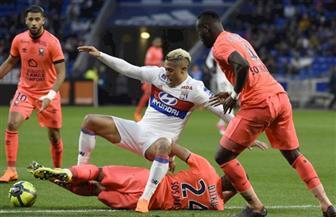 ليون ينتزع فوزا صعبا من كان في الدوري الفرنسي