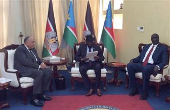 وزير الخارجية يسلم سلفاكير في جوبا رسالة من الرئيس السيسي
