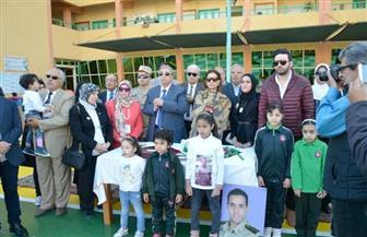 محافظ الإسماعيلية يشهد الاحتفال بيوم الشهيد بمدرستي المنار والشهيد عمرو وهيب | صور