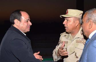 الرئيس السيسي يتفقد محور روض الفرج ومطار سفنكس الدولي غرب القاهرة | صور