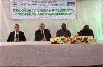 وزير الخارجية يلتقي قيادات لجنة تسيير الحوار الوطني في جنوب السودان ويسلم مساعدات لوجيستية من مصر | صور