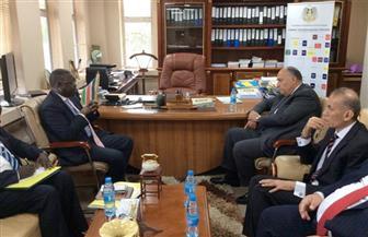 شكرى يبحث تطورات مبادرة الحوار الوطني في جنوب السودان وجهود تحقيق السلام مع وزير شئون مجلس الوزراء