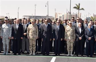 الرئيس السيسي يتقدم الجنازة العسكرية للفريق صفي الدين أبو شناف | صور