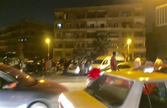 كثافات مرورية بسبب تصادم سيارتين بزهراء المعادي