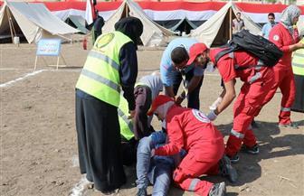 تجربة حية لإجلاء وإسعاف المصابين في كفر الشيخ بحضور قيادات المحافظة| صور فيديو