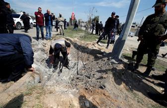 من قلب الحدث.. صور لموقع التفجير الذي استهدف موكب رئيس الوزراء الفلسطيني