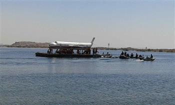 مطار أسوان يجري تجربة طوارئ سقوط طائرة في بحيرة ناصر |  صور