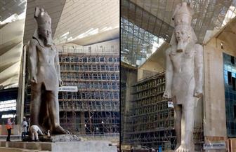 إزالة مبان حكومية تحجب الرؤية عن مبنى المتحف المصري الكبير وانتهاء ترميم تمثال رمسيس | صور