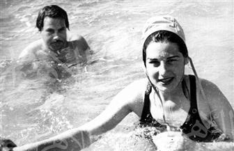 ليلى فوزي ويحيى شاهين في بحر الإسكندرية.. وصور منذ عام 1947 تنشر للمرة الأولى