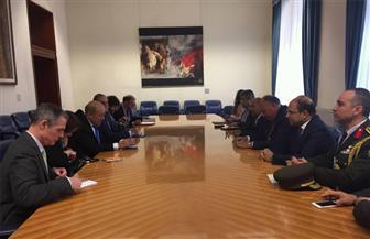 سامح شكري لوزير خارجية فرنسا: مصر تتطلع  لاستقبال الرئيس الفرنسي خلال الفترة المقبلة