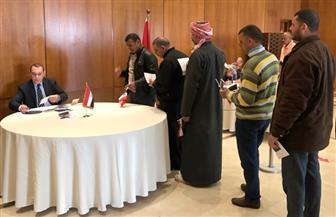 شاهد الأجواء الاحتفالية للمصريين بالأردن خلال مشاركتهم في الانتخابات الرئاسية   فيديو