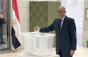 استمرار توافد المصريين على  سفارة مصر ببرلين.. وهاني عازر يدلي بصوته | صور