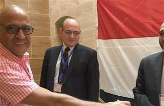 الفنان أشرف عبد الباقي يدلي بصوته في الانتخابات الرئاسية بقنصلية مصر بجدة| صور