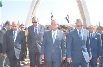 """محافظ المنيا يضع  حجر أساس """"مشروع شارع مصر"""""""