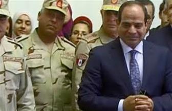الرئيس السيسى يتفقد مشروعات الاستزراع السمكي في شرق بورسعيد