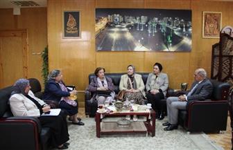 لجنة من قطاع التمريض تتابع عمليات إنشاء معهد فنى للتمريض بجامعة كفرالشيخ
