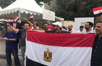 أغانى واحتفالات في الانتخابات الرئاسية للمصريين بالإمارات | صور