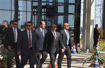 الرئيس السيسي يتفقد المبنى الإداري للمنطقة الصناعية بميناء شرق بورسعيد