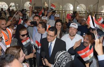 سفير مصر بالكويت يستقبل وفد مجلس النواب لمتابعة انتخابات الرئاسة | صور