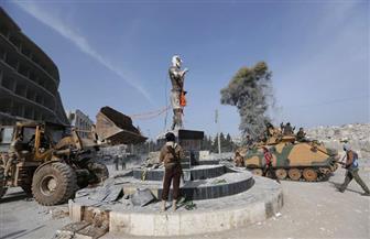 قوات تركية تسقط تمثالا تاريخيا للأكراد وسط عفرين