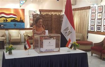 أكبر وأقدم عضوة في الجالية المصرية بالهند تصوت في الانتخابات الرئاسية