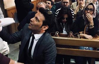 ريم البارودي وسعد الصغير داخل محكمة الجنايات.. تضامنا مع ريهام سعيد