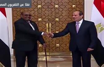 """البشير لـ""""الرئيس السيسي"""": يدنا في يدك لمصلحة شعوبنا وبلدينا"""