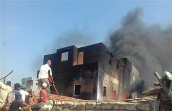 إصابة شخص ونفوق ماشية في حريق منزل بميت غمر