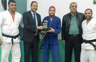 آية إبراهيم لاعبة الجودو بالمصري تحرز المركز الأول في بطولة منطقة بورسعيد