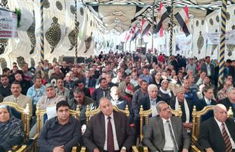 """مؤتمر جماهيري لحملة """"كلنا معاك"""" بـ""""مطوبس"""" بحضور 4 آلاف مواطن لدعم الرئيس السيسي   صور"""
