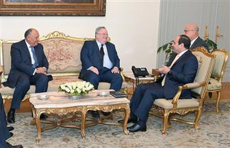 الرئيس السيسي يستقبل وزير خارجية اليونان بحضور شكري