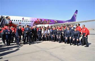 بعثة المنتخب تطير إلى سويسرا في أول مشوار مونديال روسيا | صور