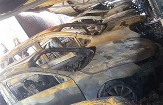 تفحم 59 سيارة وتوك توك في حريق جراج بمدينة مطوبس بكفر الشيخ   صور