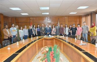 الانتخابات الرئاسية في مصر وروسيا على أجندة الحوار في لقاء رئيس جامعة أسيوط والطلاب الروس| صور