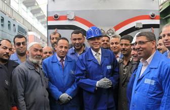 وزير النقل: تطوير جميع ورش السكة الحديد وسلامة الجرارات شرط أساسي لبدء الرحلة  صور