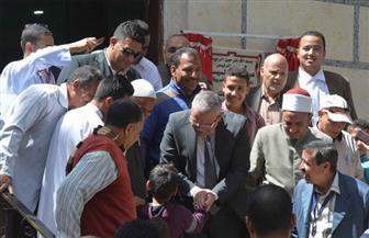 محافظ المنيا يتابع انتظام سير العملية الانتخابية بعدد من اللجان