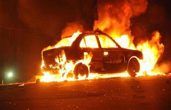 اشتعال النيران في سيارة ملاكي بطريق الإسماعيلية الصحراوي