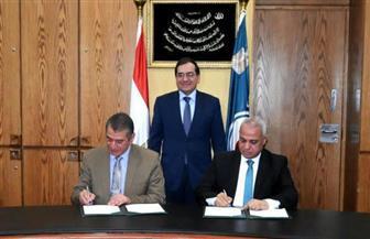"""""""البترول"""" توقع اتفاقًا لإقامة 7 محطات تموين جديدة بكفر الشيخ"""