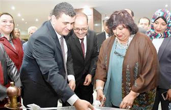 وزيرة الثقافة تفتتح قاعات الفنون والموسيقي والمكفوفين بدار الكتب   صور