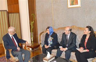 نائب وزير الخارجية يستقبل وفد منظمة التعاون الإسلامي لمتابعة الانتخابات الرئاسية | صور