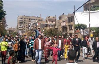 مسيرة تجوب شوارع شبرا لحث المواطنين على المشاركة في الانتخابات الرئاسية