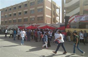 الأغاني الوطنية والأعلام المصرية تكسو المشهد الانتخابي أمام اللجان بالعبور | صور