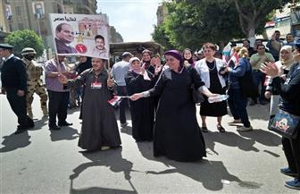 إقبال من مواطني حي المطرية على اللجان الانتخابية وسط الزغاريد والرقص على الأغاني الوطنية | صور