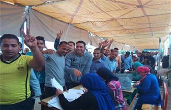 فتح لجنة مدرسة أسماء فهمي بالدقي أمام الناخبين