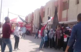 إقبال كبير على لجان في 15 مايو بالقاهرة ورقص على الأغاني الوطنية | صور