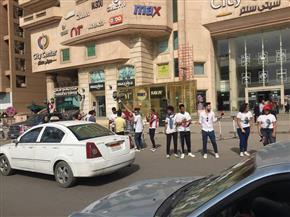 شباب وفتيات يحتفلون بمدينة نصر لحث المواطنين على المشاركة في الانتخابات   صور