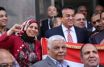 وزير التعليم العالي يحث الموظفين على المشاركة في الانتخابات الرئاسية | صور