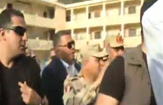 وزير الدفاع يتفقد اللجان الانتخابية في طنطا